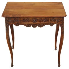 Louis XV Carved Walnut Side Table