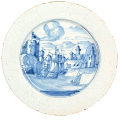 "Delft Plate, ""The Taking of Porto Bello"""