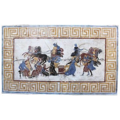 Italian 19th-20th Century Neoclassical & Greco-Roman Style Scagliola Wall Plaque