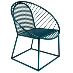 Ocean Blue Circle Armchair Chair