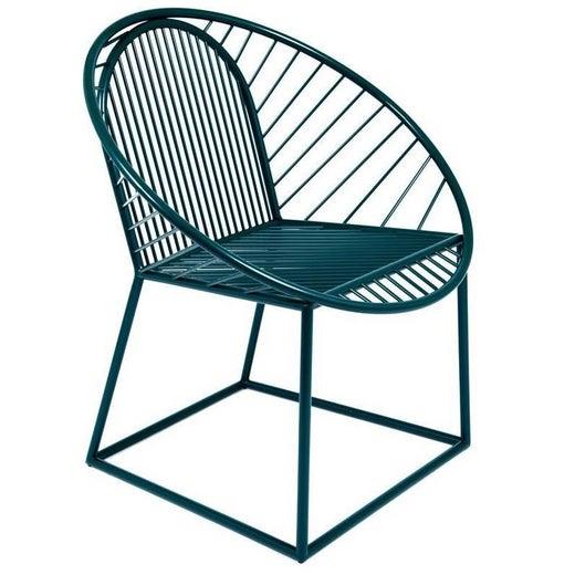Ocean Blue Circle Armchair Chair