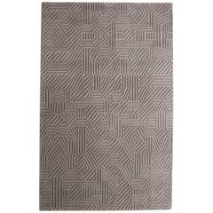 African Pattern One Area Rug in Hand-Tufted Wool by Milton Glaser Medium