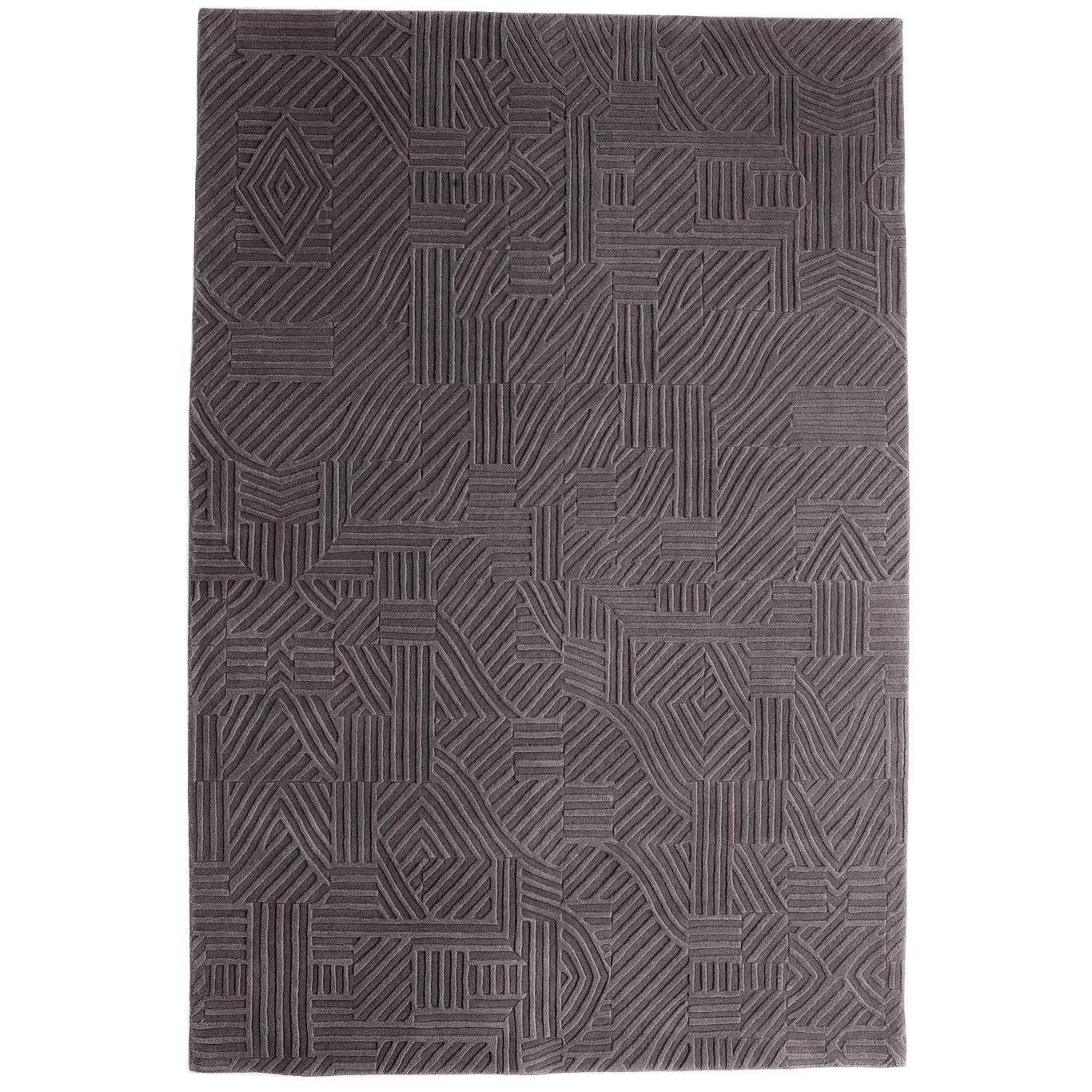 African Pattern Two Area Rug in Hand-Tufted Wool by Milton Glaser Medium