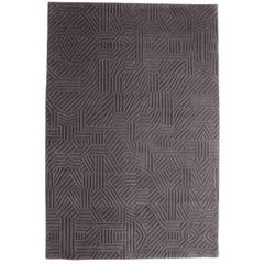 African Pattern Two Area Rug in Hand-Tufted Wool by Milton Glaser, Medium