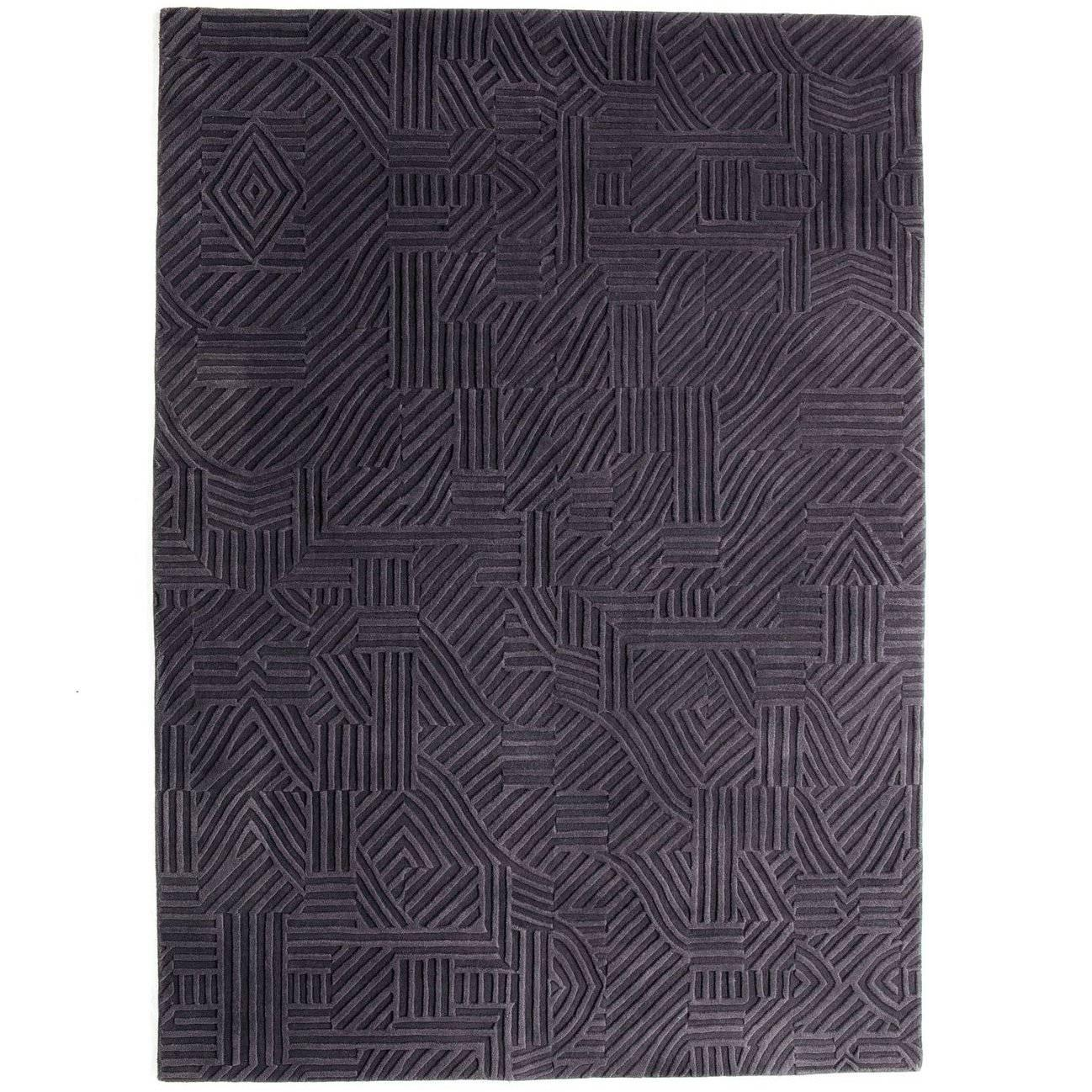 African Pattern Three Area Rug in Hand-Tufted Wool by Milton Glaser Extra Large