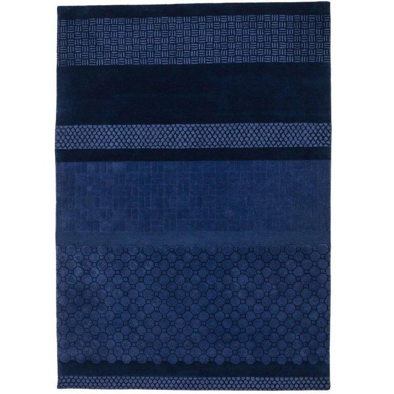 Blue Jie Hand-Tufted Wool Area Rug by Neri & Hu Medium