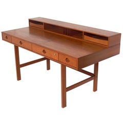 Clean Lined Architectural Danish Modern Desk by Jens Quistgaard