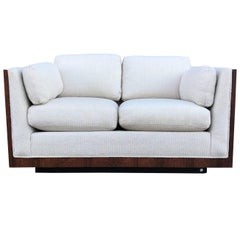 Milo Baughman for Thayer Coggin Rosewood Case Loveseat