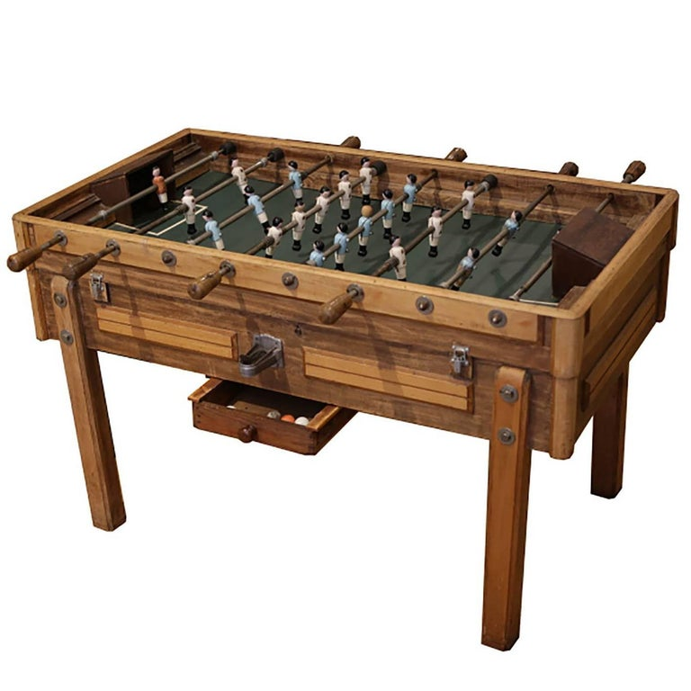 Rare Early 20th Century French Foosball Table, circa 1940s For Sale
