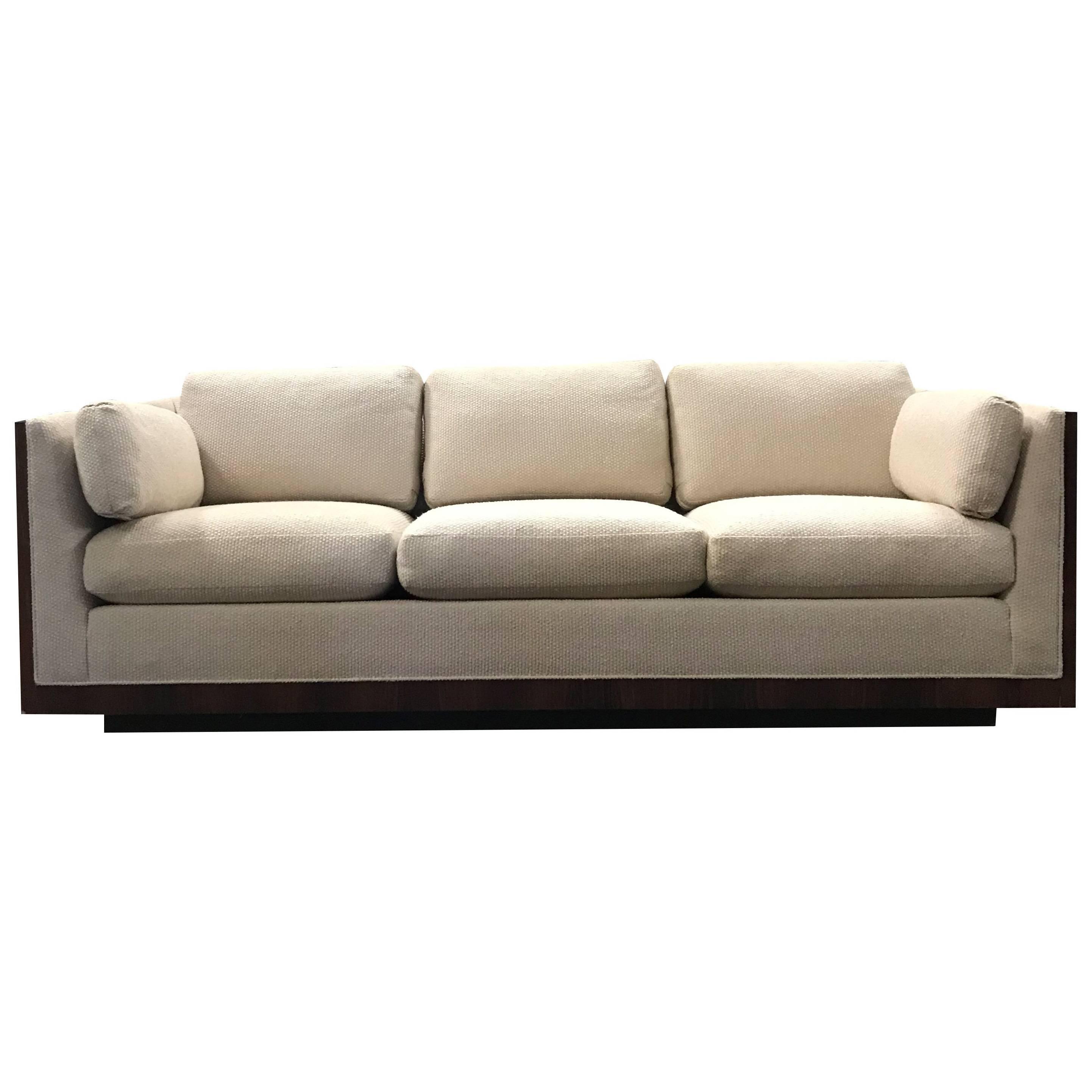 Milo Baughman For Thayer Coggin Case Sofa In Rosewood