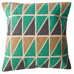 Geometric Mave Handwoven Modern Triangle Throw Pillow Cover