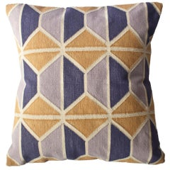 Geometric Mave Hand Woven Modern Hexagon Throw Pillow Cover
