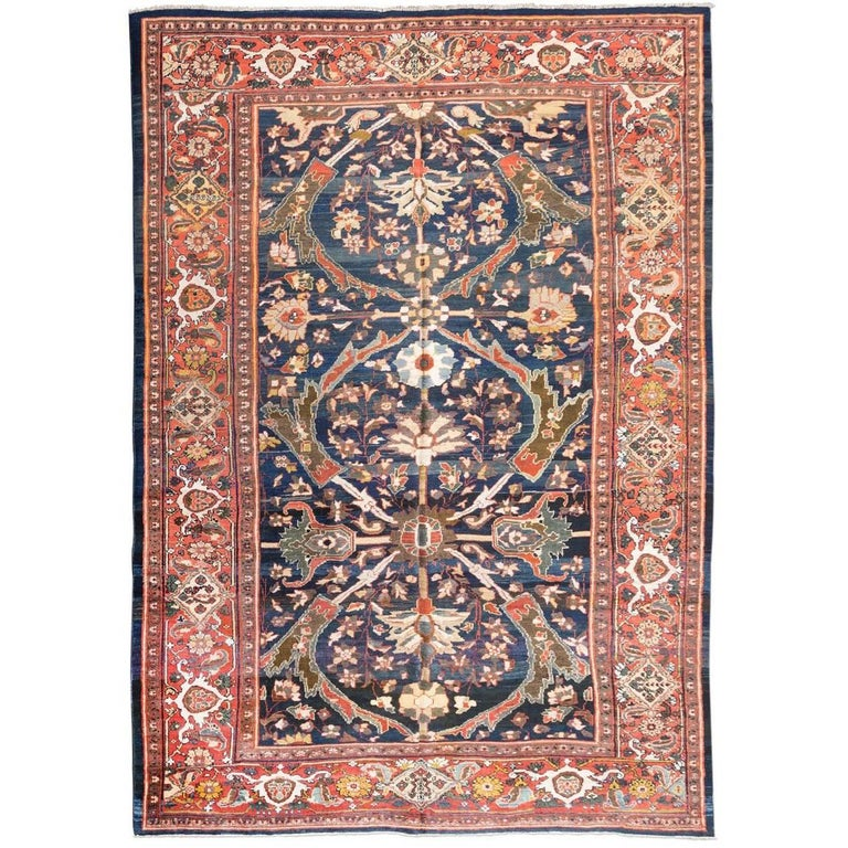 Ziegler sultanabad iran rug circa 1890 for sale at 1stdibs - Deluxe persian living room designs with artistic rug collection ...