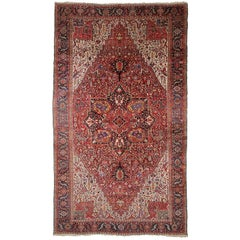 Persian Rug Heriz Oversized Large Hand Knotted Carpet