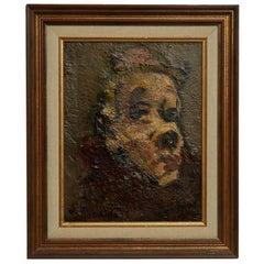 Clown Oil on Canvas By Vassyl Khmeluk