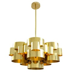 Jere Chandelier Brass, USA, 1970s