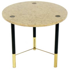 Elegant Marble and Brass Table