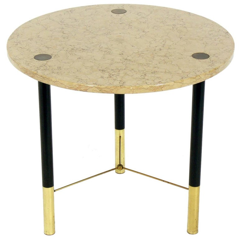 Harvey Probber Marble and Brass Table