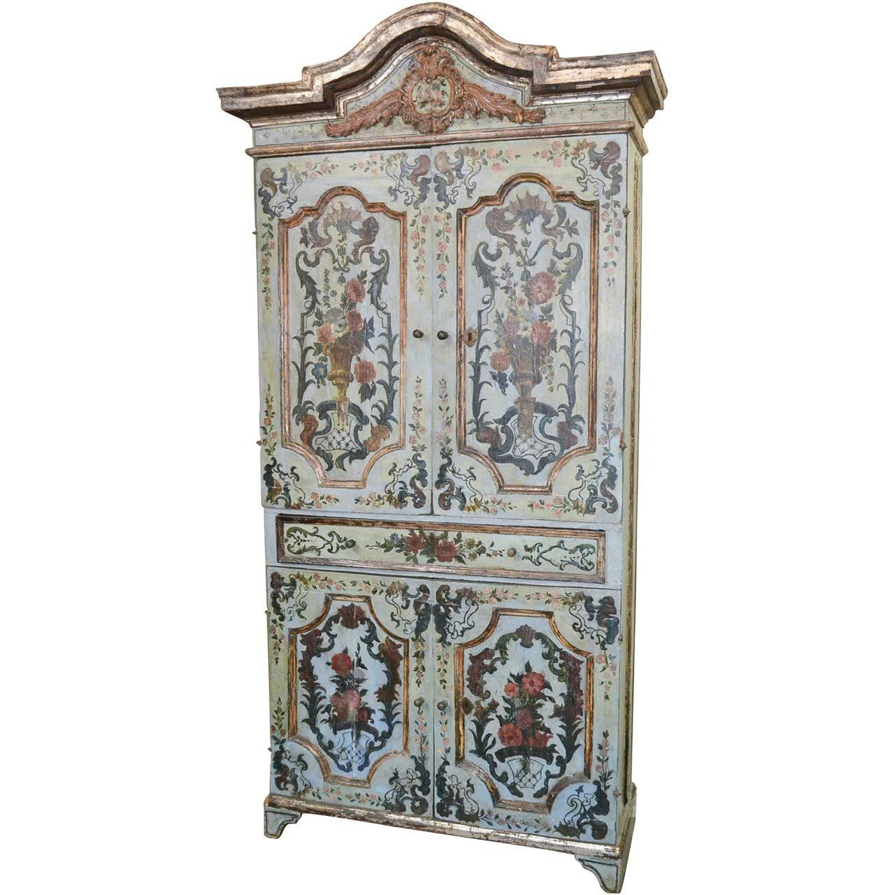 18th Century Italian Painted Cabinet