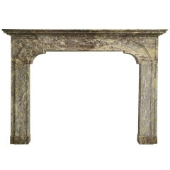 18th Century Dutch Louis XIV Fireplace, Belgian Marble