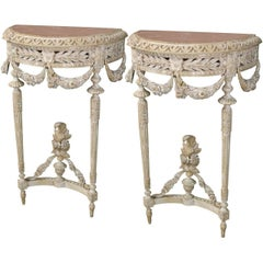 19th Century Pair of French Louis XVI Consoles