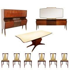 Mid-Century Modern Complete Dining Room Set Osvaldo Borsani Style, circa 1955