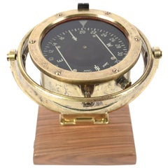 Aviation Compass Signed Henry Browne & Son Limited Sestrel, 1930s