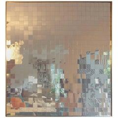 Large Midcentury Modern Op Art Mirror
