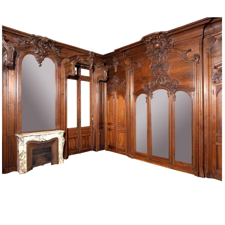 Vintage Knotty Pine Paneling: 1905 Tudor Style English Oak Paneled Room From Two Rivers