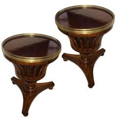 Pair of English Mahogany Side Tables