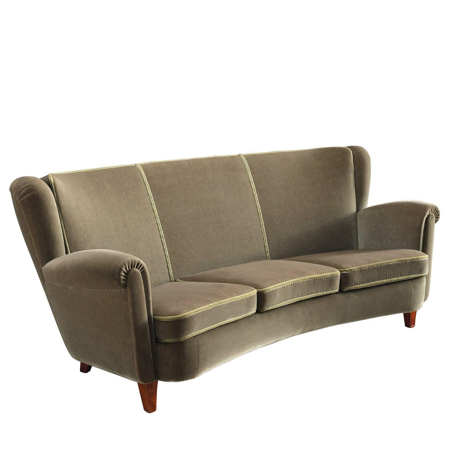 Renzo Zavanella Important Sofa From Hotel San Remo Light Fabric - San-remo-contemporary-leather-sofa