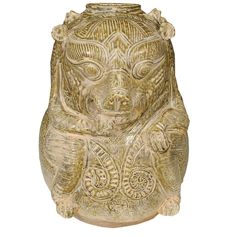 Chinese Twin Mythical Jar