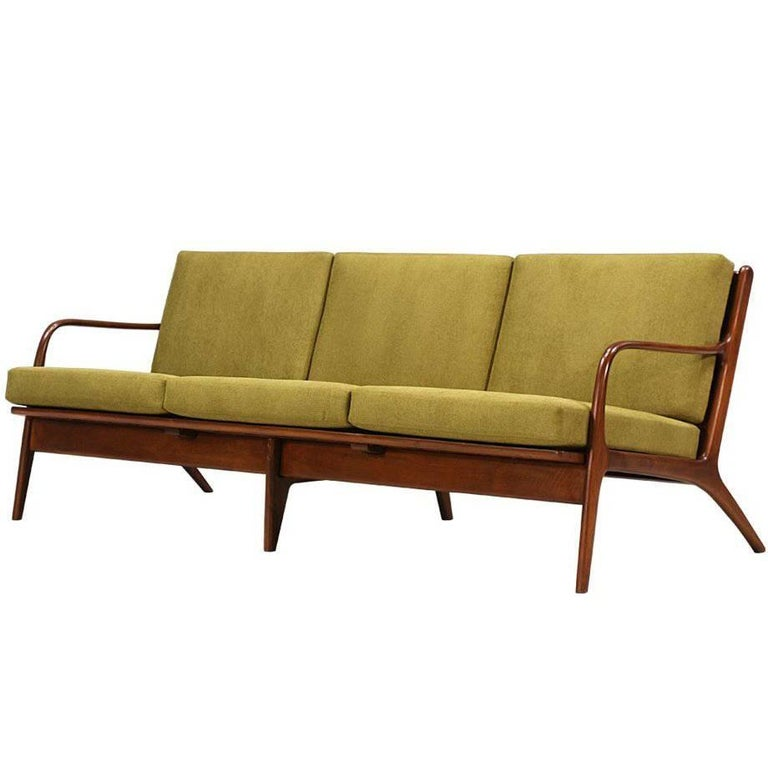Adrian Pearsall Walnut Sofa for Craft Associates For Sale