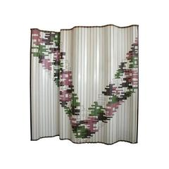Art Deco Painted Wood Screen by Martere