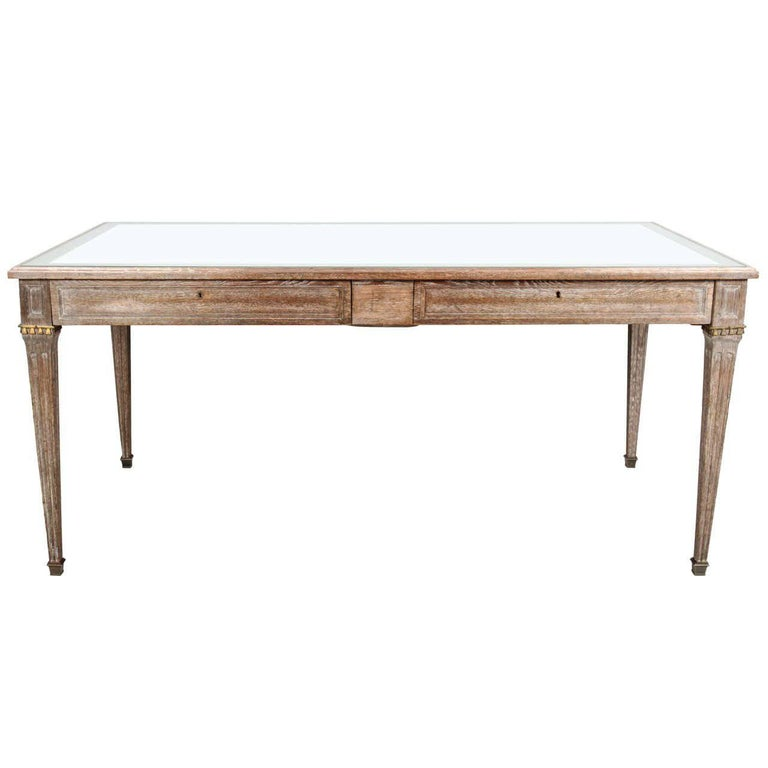 Limed Oak Desk by Maison Jansen