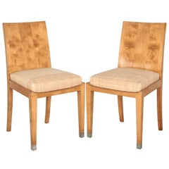 Pair of Jean-Michel Frank Sycamore Chairs