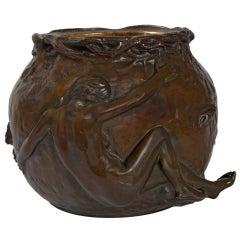 Marrionet Bronze Figural Jardiniere