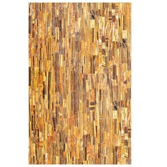 Rectangular Pietre Dure Hardstone Tiger Eye Mosaic Table Top