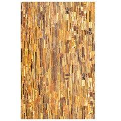 Rectangular Pietre Dure Hardstone Tiger Eye Mosaic Table Top
