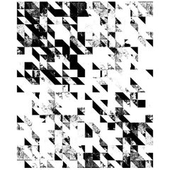 Disintegration Wallpaper in Black and White