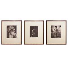 Framed Native American Photographs by Frank Bennett Fiske, circa 1906