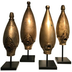 Bronze Set of Portable Hookah Base, India
