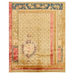 """""""Brocade Garden Gold"""" Hand-Knotted Area Rug"""