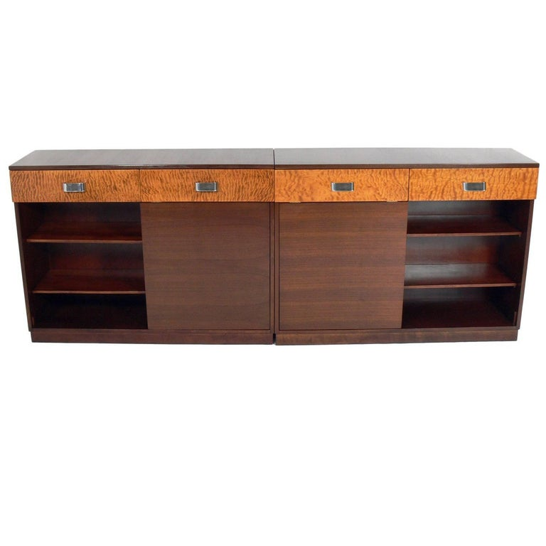 Pair of Rare Art Deco Credenzas by Russel Wright for Heywood Wakefield
