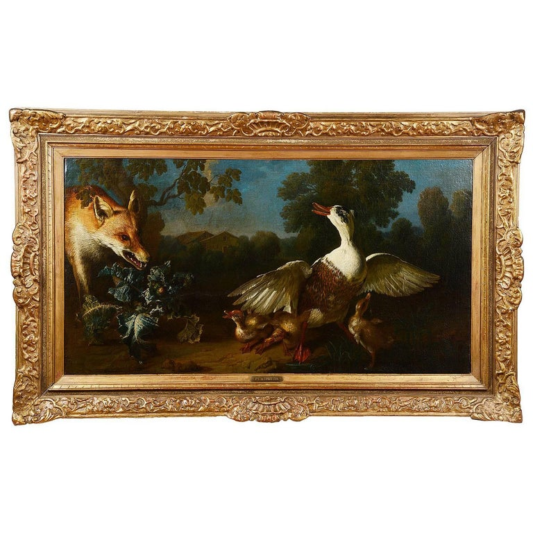 18th Century Oil on Canvas by Phillip Ferdinand de Hamilton. For Sale