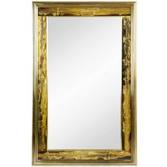 Bernhard Rohne for Mastercraft Acid Etched Brass Mirror, circa 1970