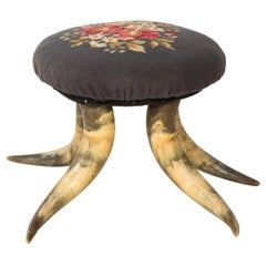 Antique Horn Footstool