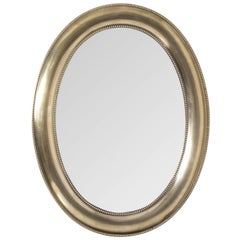 Silver Plated Oval Mirror
