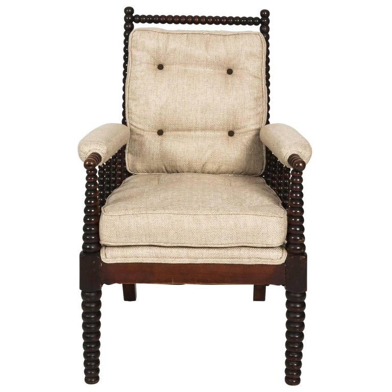 English Mahogany Bobbin Chair