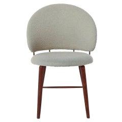 Danish Modern Upholstered Vanity Chair